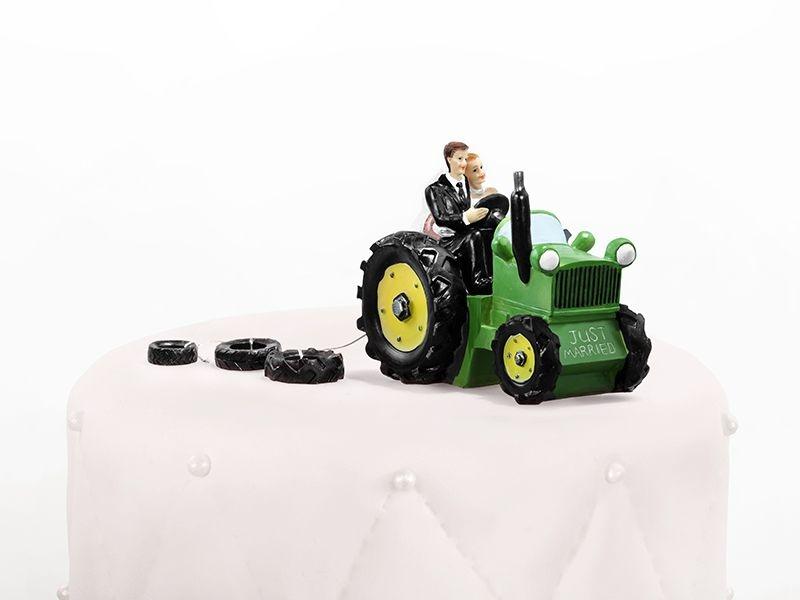 Figúrky na svadobnú tortu - Figúrka na tortu - traktor