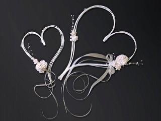Svadobné dekorácie na auto - Ratanová srdce