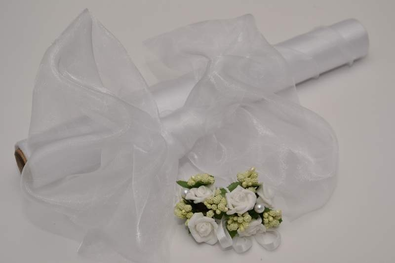 Biela - Dekoračná organza - biela