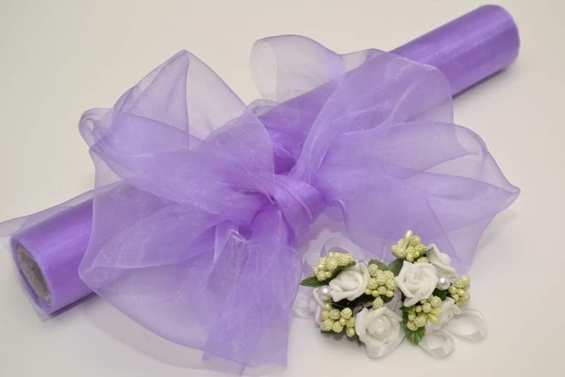Fialová - Dekoračná organza - lila