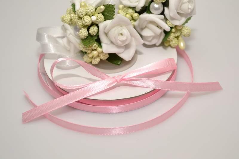 Svadobné výväzky a stuhy - Saténová stuha ružová