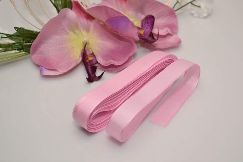 Svadobné výväzky a stuhy - Taftová stuha - ružová