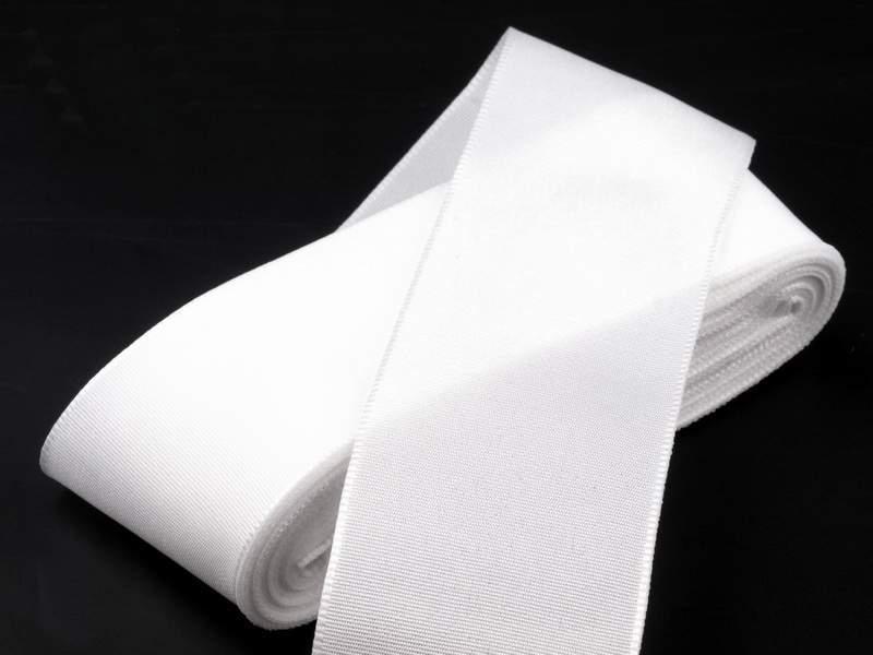 Biela - Taftová stuha biela - 40mm