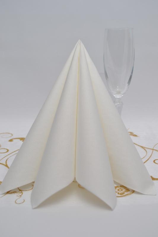 Dekorácie na stôl - Obrúsok Duni - biela