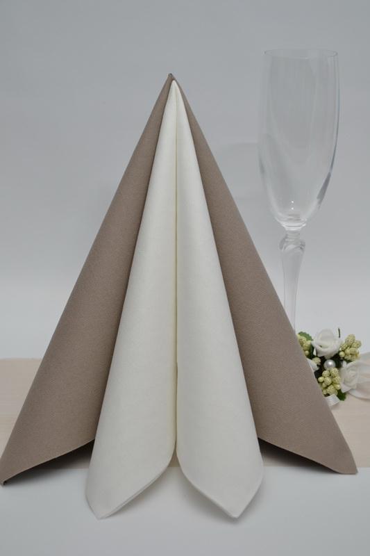 Dekorácie na stôl - Obrúsek Duni - kávová