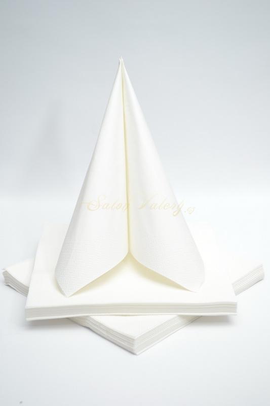 Dekorácie na stôl - Trojvrstvové obrúsky - biela