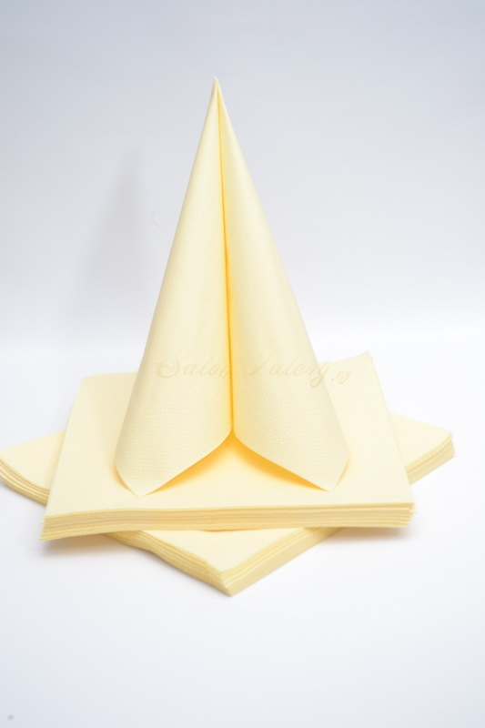 Dekorácie na stôl - Trojvrstvové obrúsky - krémová