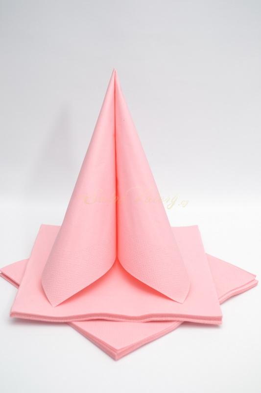Dekorácie na stôl - Trojvrstvové obrúsky - ružová