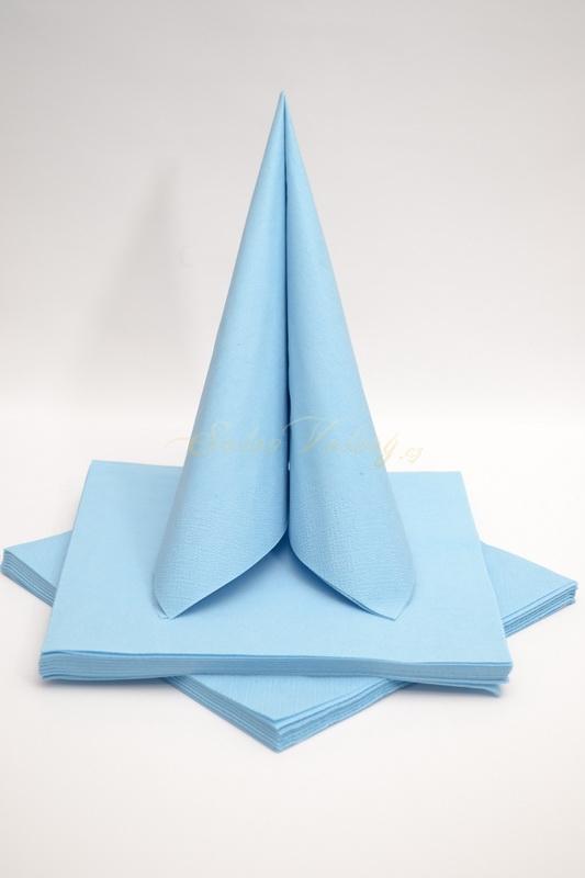 Dekorácie na stôl - Trojvrstvové obrúsky - svetlo modrá