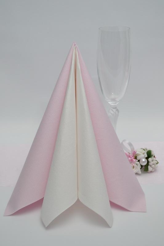 Dekorácie na stôl - Obrúsky Duni - svetlo ružová