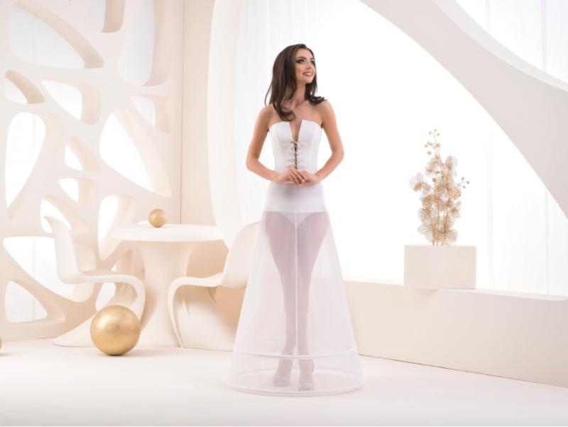Doplnky pre nevestu - Dvojkruhová spodnička s elastickým pásom - obvod 190 cm