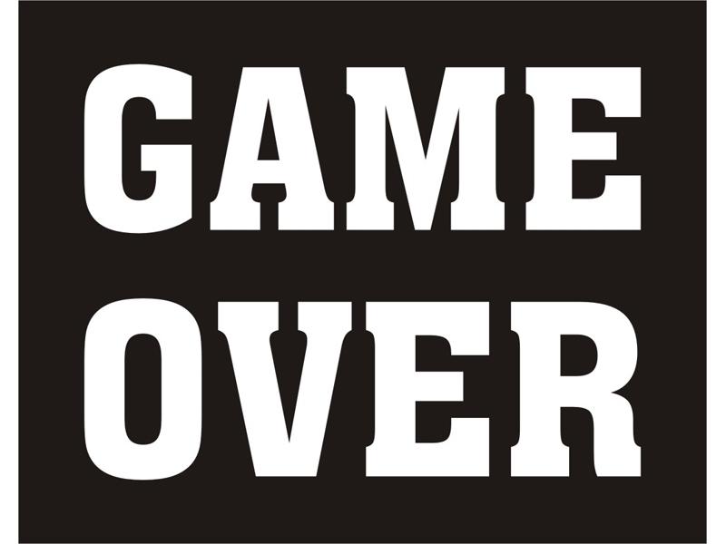 Doplnky pre nevestu - Nálepky Game Over