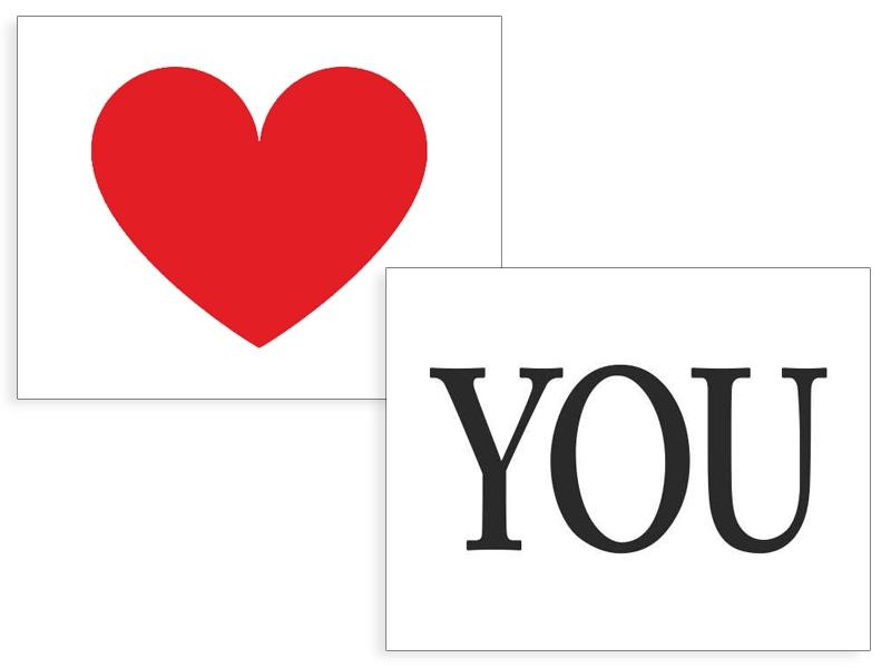 Doplnky pre nevestu - Nálepky Srdce / You
