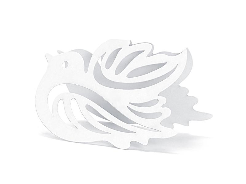 Dekorácie na stôl - Svadobná menovka holoubek