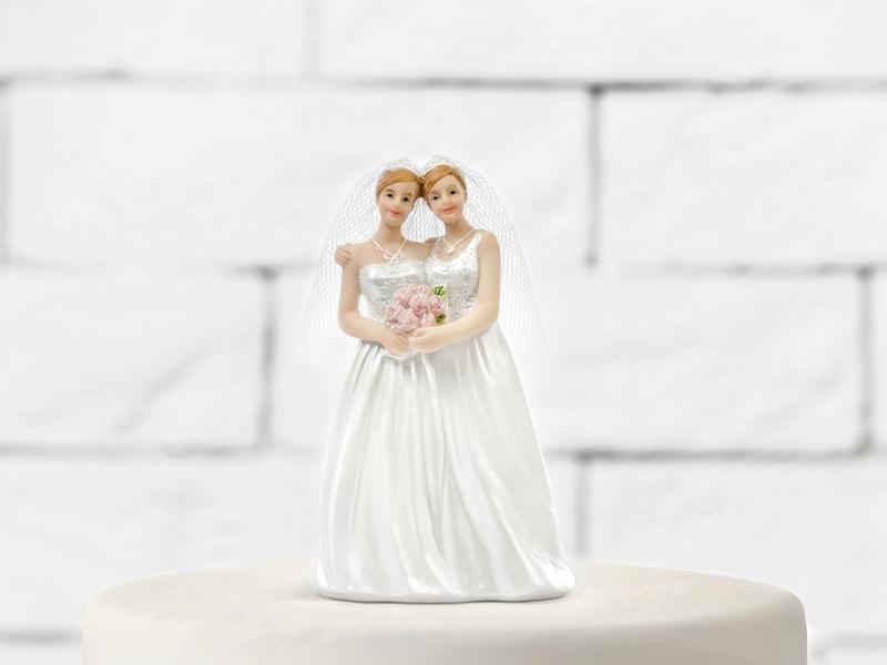 Figúrky na svadobnú tortu - Figúrka na tortu - dve nevesty