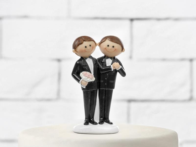 Figúrky na svadobnú tortu - Figúrka na tortu - ženísi