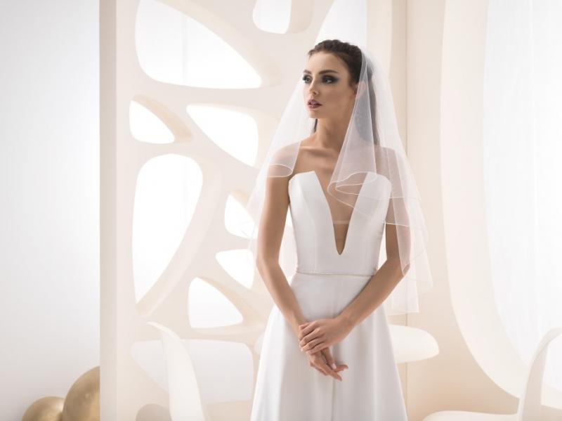Doplnky pre nevestu - Jednoduchý svadobný závoj