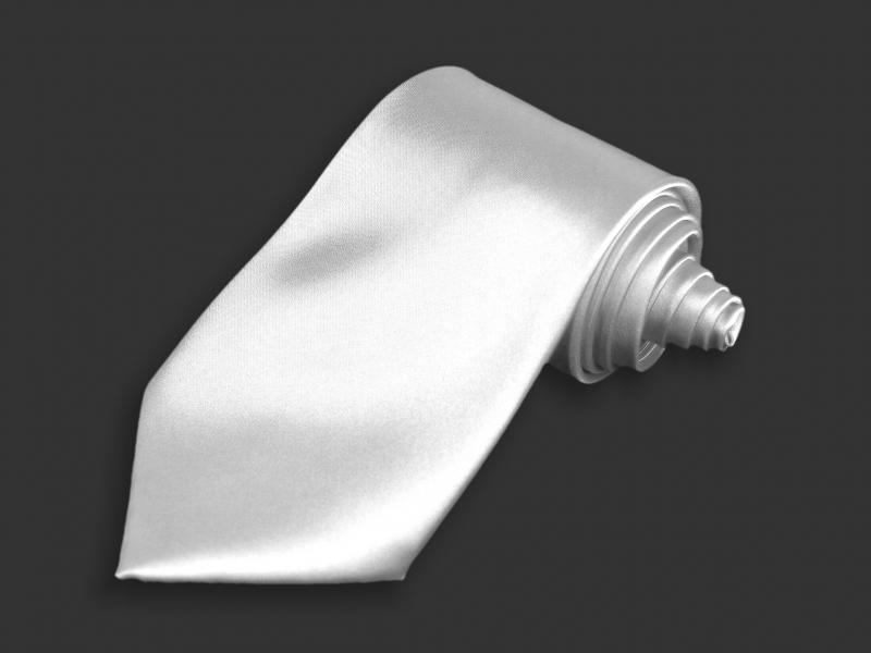 Doplnky pre ženicha - Kravata biela