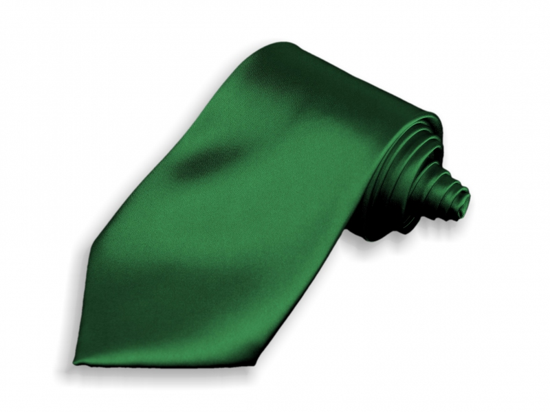 Doplnky pre ženicha - Kravata tmavo zelená