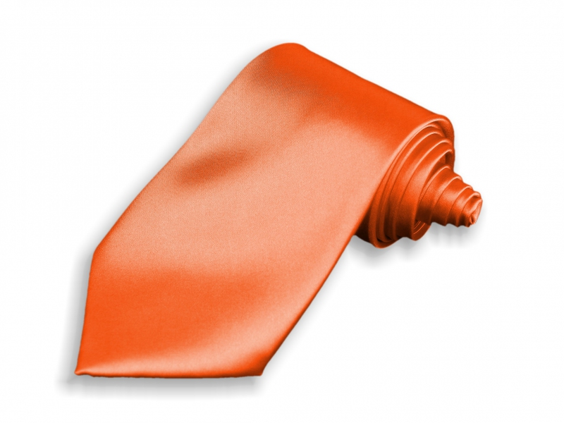 Doplnky pre ženicha - Kravata oranžová