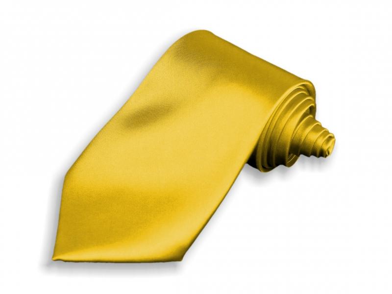 Doplnky pre ženicha - Kravata zlatá