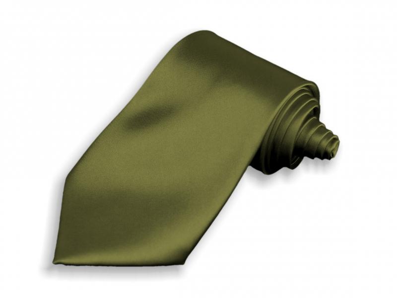 Doplnky pre ženicha - Kravata khaki