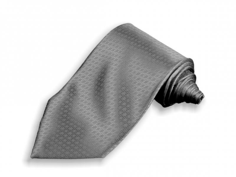 Doplnky pre ženicha - Tmavošedá kravata Paríž