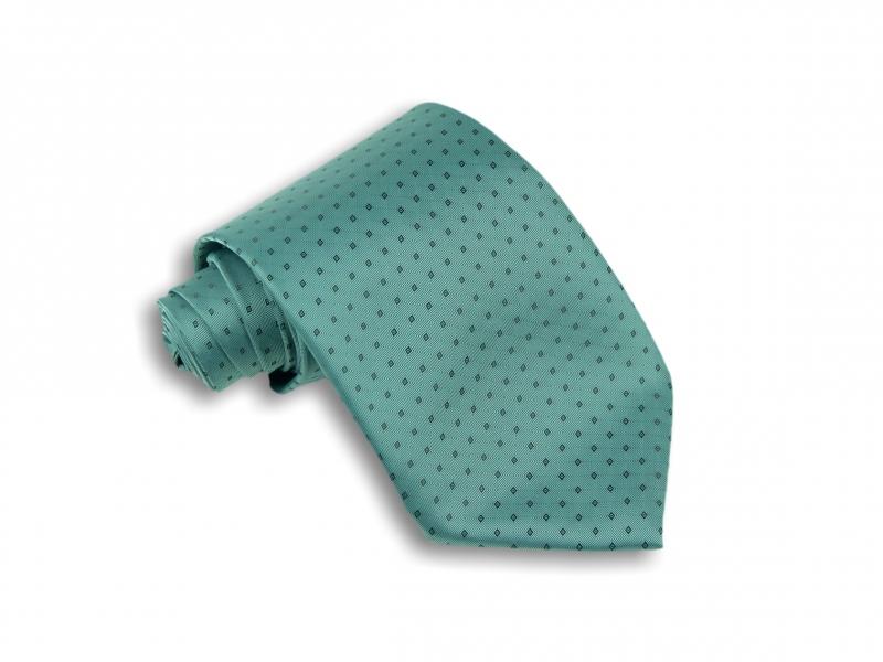 Doplnky pre ženicha - Zelená kravata so vzorom