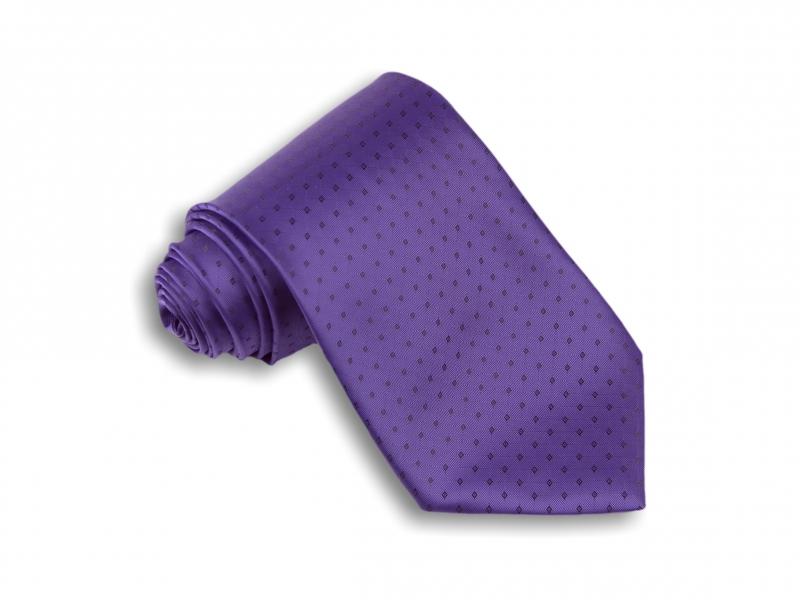Doplnky pre ženicha - Fialová kravata so vzorom