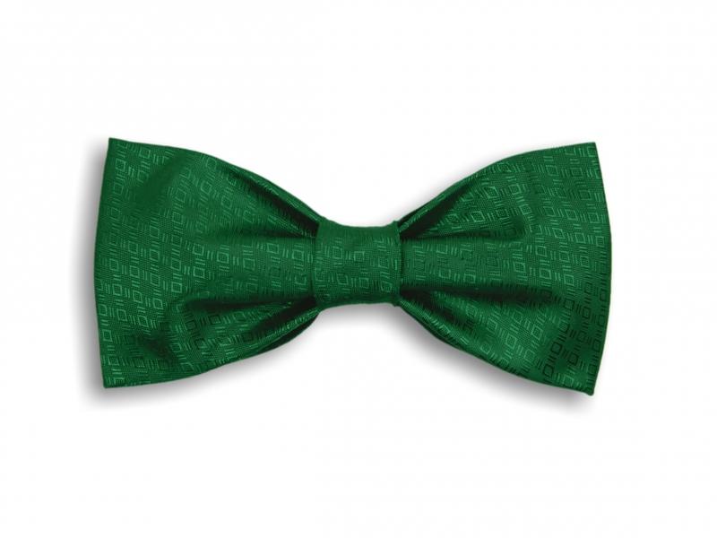 Doplnky pre ženicha - Zelený tkaný motýlik
