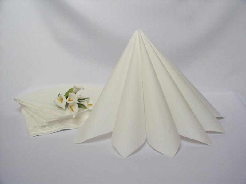 Biela - Dvojvrstvové obrúsky - biela