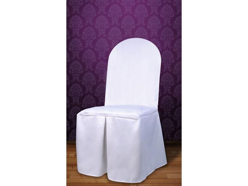 Biela - Poťah na stoličky - tkanina