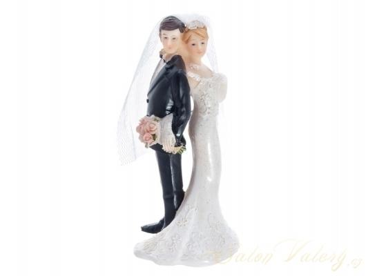Figúrky na svadobnú tortu - Figúrka na tortu - nevesta a ženích