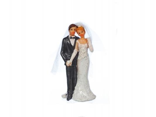 Figúrky na svadobnú tortu - Nevesta a ženích