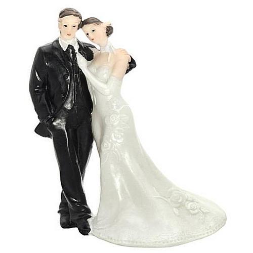 Figúrky na svadobnú tortu - Ženích s nevestou