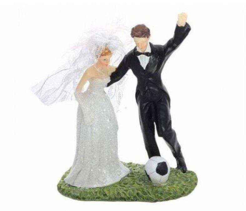 Figúrky na svadobnú tortu - Figúrka na tortu - futbal
