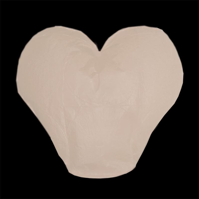 Lampióny šťastie - Lampión šťastia srdce - biele