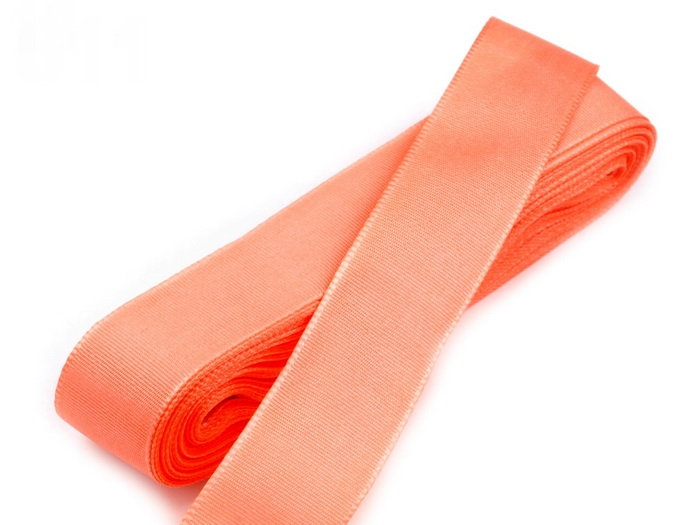 Svadobné výväzky a stuhy - Taftová stuha lososová 15mm