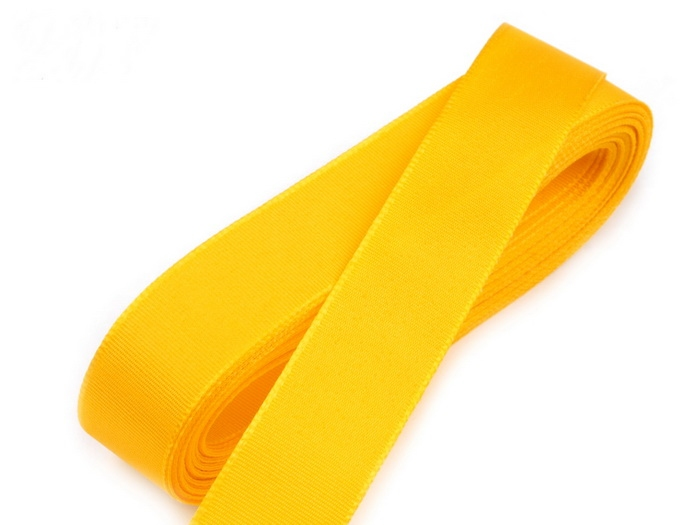 Svadobné výväzky a stuhy - Taftová stuha žltá 15mm