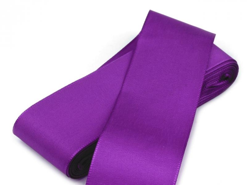 Svadobné výväzky a stuhy - Taftová stuha fialová - 40mm