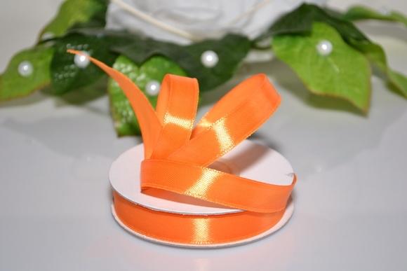 Svadobné výväzky a stuhy - Saténová stuha 12mm - oranžová