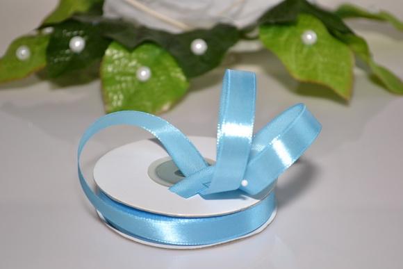 Svadobné výväzky a stuhy - Saténová stuha 12mm - svetlo modrá