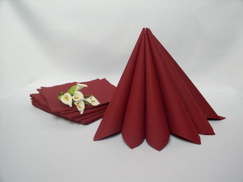 Dekorácie na stôl - Dvojvrstvové obrúsky - bordó
