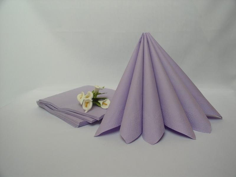 Dekorácie na stôl - Dvojvrstvové obrúsky - lila