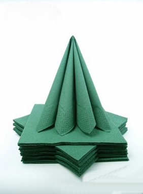 Dekorácie na stôl - Trojvrstvové obrúsky - zelená