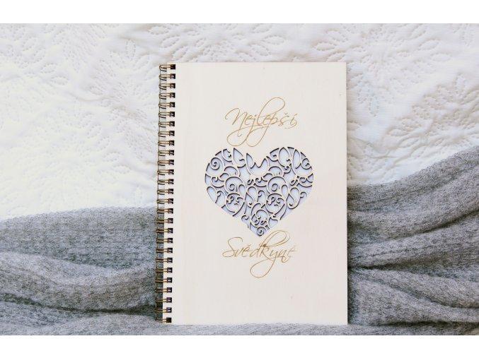 Svadobné diáre a denníky - Denník pre svedkyňu srdce