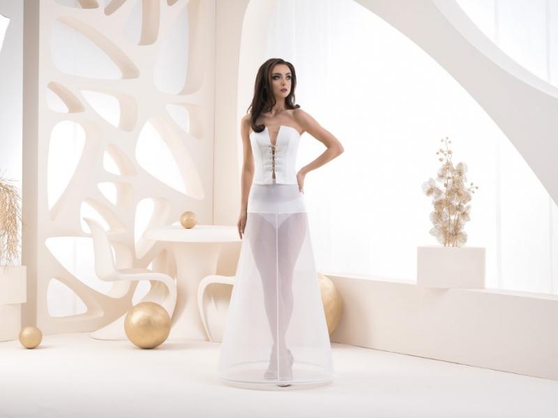 Doplnky pre nevestu - Jednokruhová spodnička s elastickým pásom - obvod 220 cm