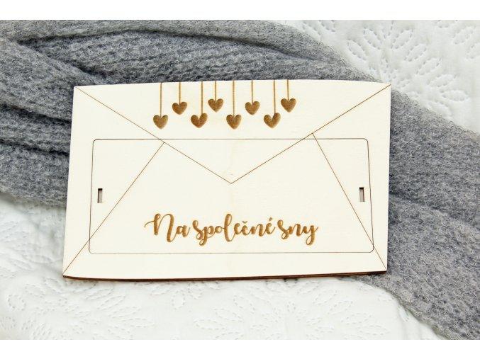 Dary pre novomanželov - Krabička na peniaze Na spoločné sny