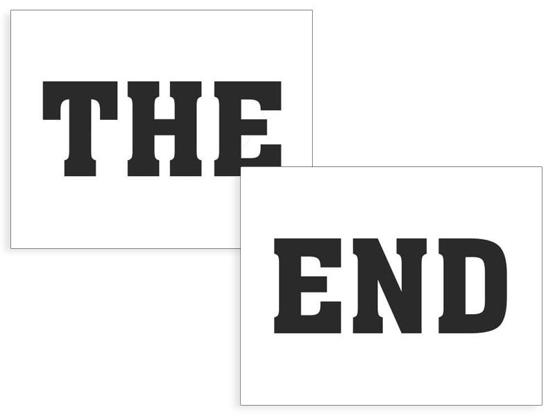 Doplnky pre ženicha - Nálepky The End