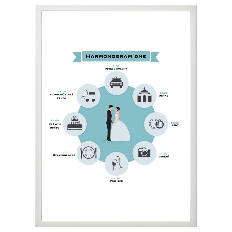Svadobné ozdoby - Svadobný harmonogram kruh